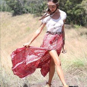 Tulle and Batiste Maxi Skirt